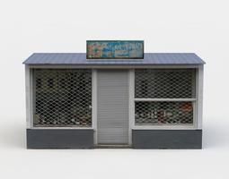 Kiosk 3D asset game-ready