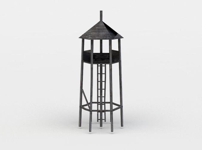 hunting tower 3d model obj fbx c4d lwo lw lws dae X 1