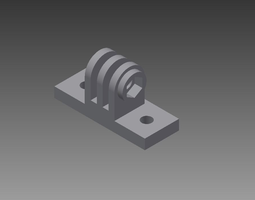3d print model simple gopro mount