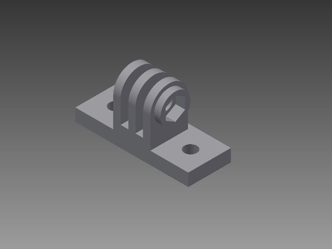 Simple Gopro Mount 3d Model 3d Printable Stl
