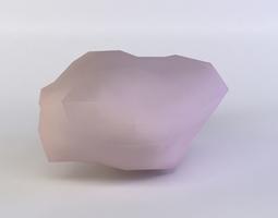 3d asset VR / AR ready pink rock2