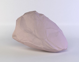 pink rock 3d model game-ready