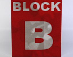 white block 3d asset realtime