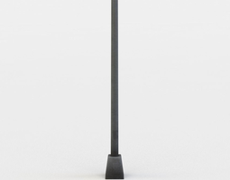 3d model realtime single traffic pole