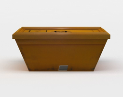 plastic orange box 3d model VR / AR ready