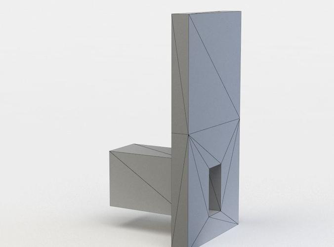 statue 3d model low-poly obj mtl fbx lwo lw lws dae X u3d 1