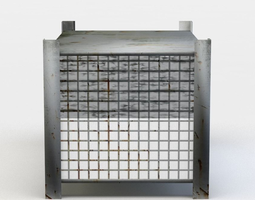 metal box game-ready 3d model
