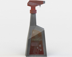spray cleaner 3d model low-poly