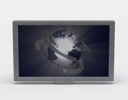screen low-poly 3d model