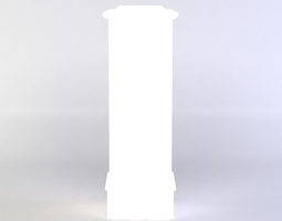 white column 3d asset low-poly