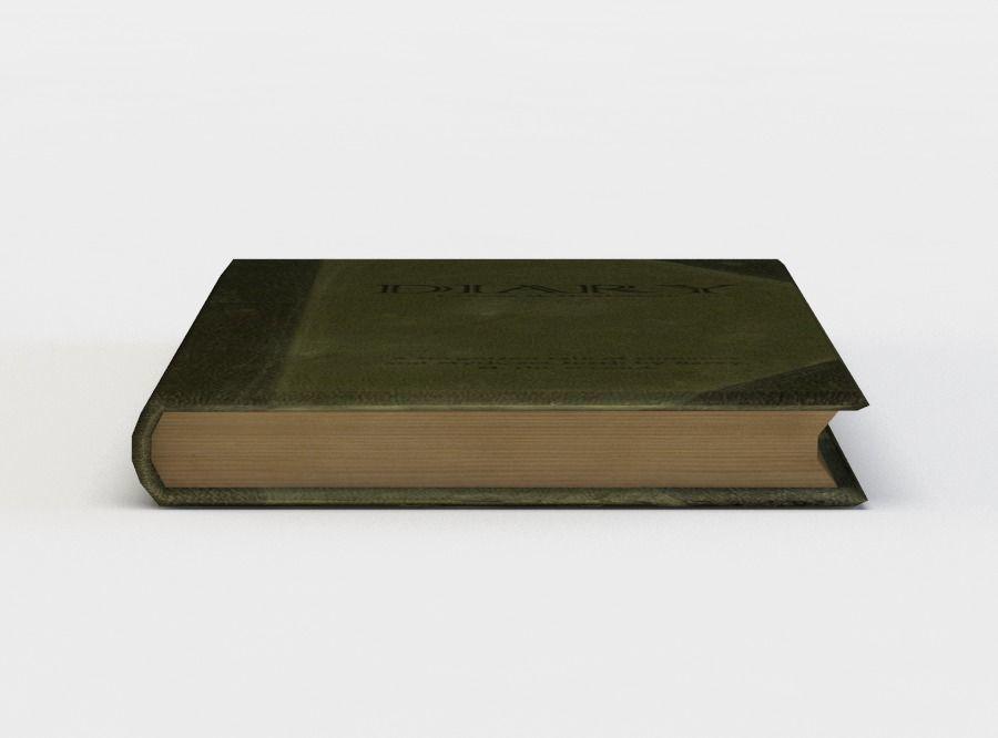 Green closed book