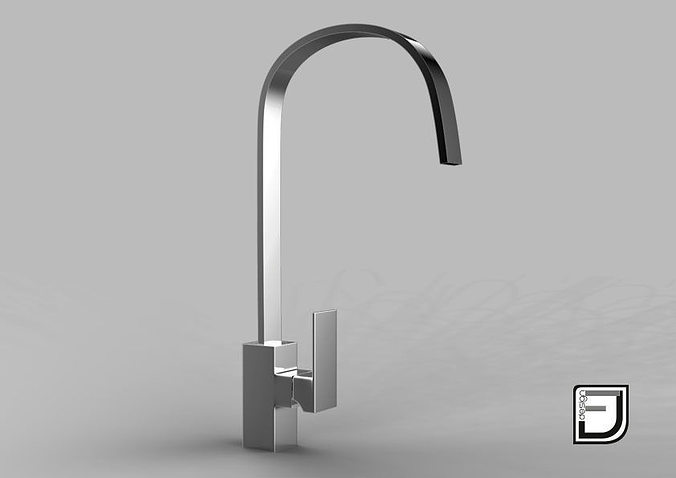 3D model Kitchen Faucet water | CGTrader