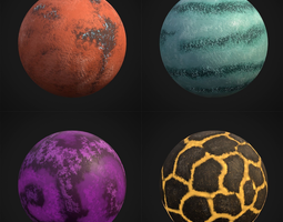 3D asset Stylized Planets 01