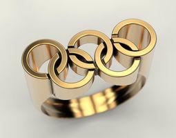 Olympic Ring 3D print model jewellery