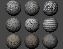 exterior Concrete Textures Pack 1 3D model