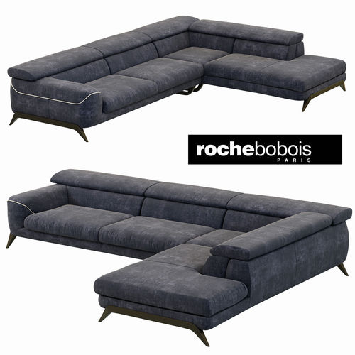 roche bobois cinephile corner composition 3d model max obj 3ds fbx mtl 1