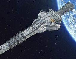 3D asset low-poly Spaceship