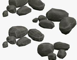 3D model Low Poly Rock Asset