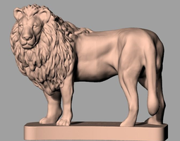 Animal sculpture model Standing Male lion A041