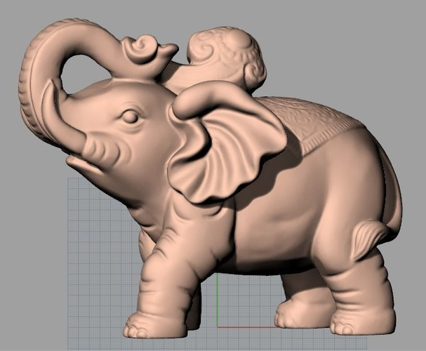 3d animal sculpture model cute elephant a044 cgtrader