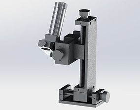 four axis with platform 3D model