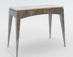 3D model modern table contemporary render ready corona