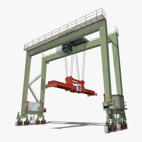 gantry crane 3d model max obj mtl 3ds fbx c4d 1