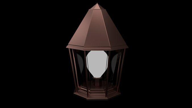 lantern 3d model blend 1