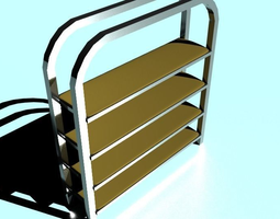 3D asset Metal Shelf