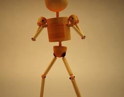 3D model rigged Blake - cartoon character