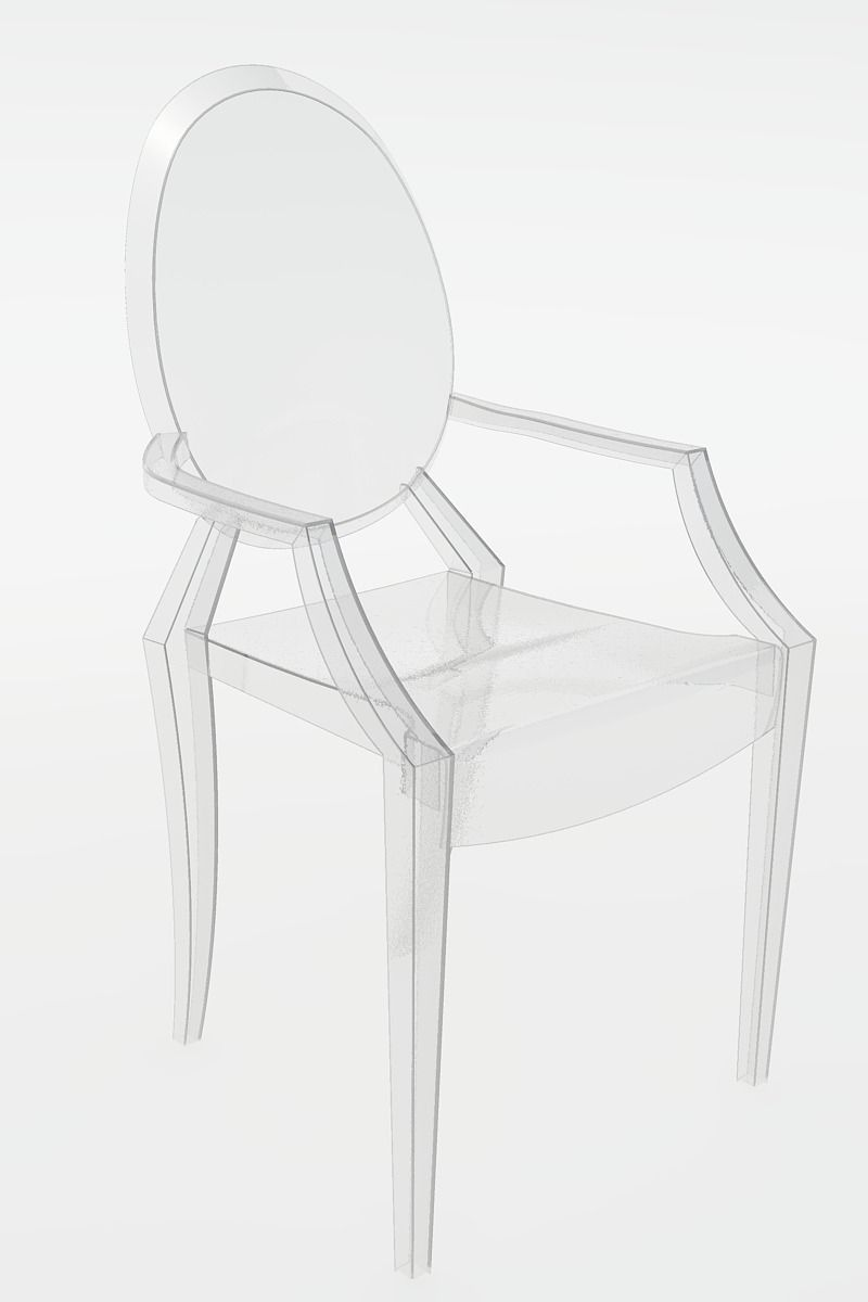 Incroyable Ghost Chair By Philippe Starck 3d Model Dxf Dwg 1 ...