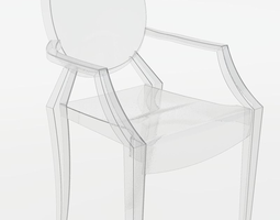 Ghost Chair By Philippe Starck 3d Model