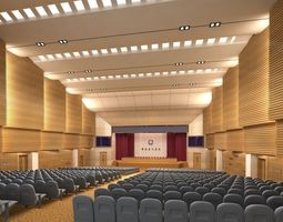 Auditorium room 3D model architecture