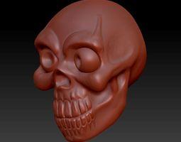 3D model skull cnc
