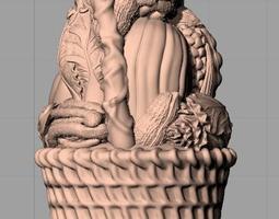 Crafts Sculpture Model Vegetable basket C047