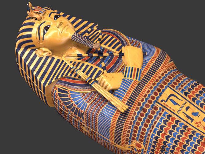 3d Model King Tutankhamun Sarcophagus Cgtrader