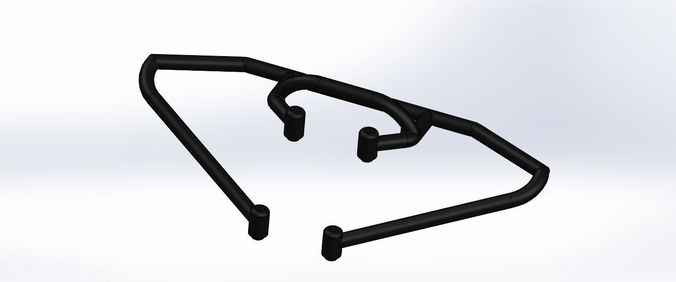 team associated sc10 t4 front bumper brace assembly kit asc9816 3d model stl sldprt sldasm slddrw ige igs iges 1