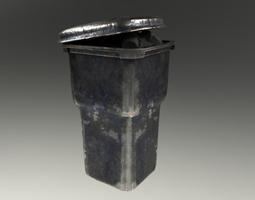 3D model VR / AR ready PBR Trashcan