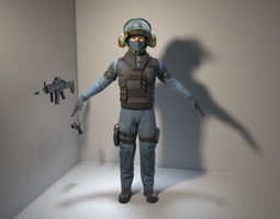 3D model Soldier-Policeman