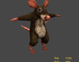 game-ready 3d Rat