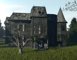 3D asset realtime IT - house from the movie 2017