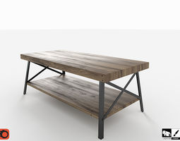 Industrial Cocktail Table 3D asset low-poly