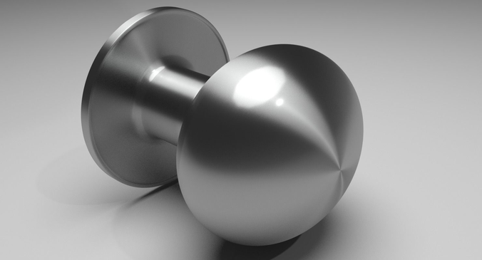3D Brushed Chrome Doorknob   CGTrader