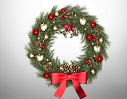 3D christmas wreath year gift