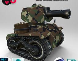 Tank1 3D asset animated