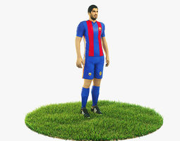 3D model Luis Suarez football Player game ready character