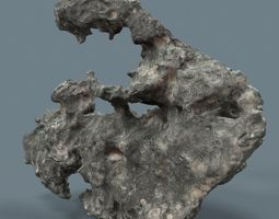 3D model Grey Stylized Rock