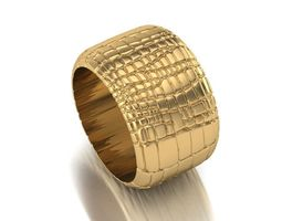 3D print model Crocodile Leather Ring