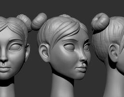 Cartoon heads 3D print model miniatures