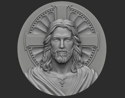 3D print model Medallion of Jesus no 1